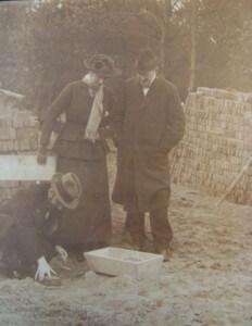 Eerste steenlegging 1916