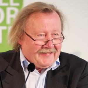 Peter Sloterdijk tijdens een bezoek aan de ISVW in 2013. Foto: Paul Scheuldermani / i-Publishing