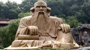 LaoZi beeld met hele grote oren